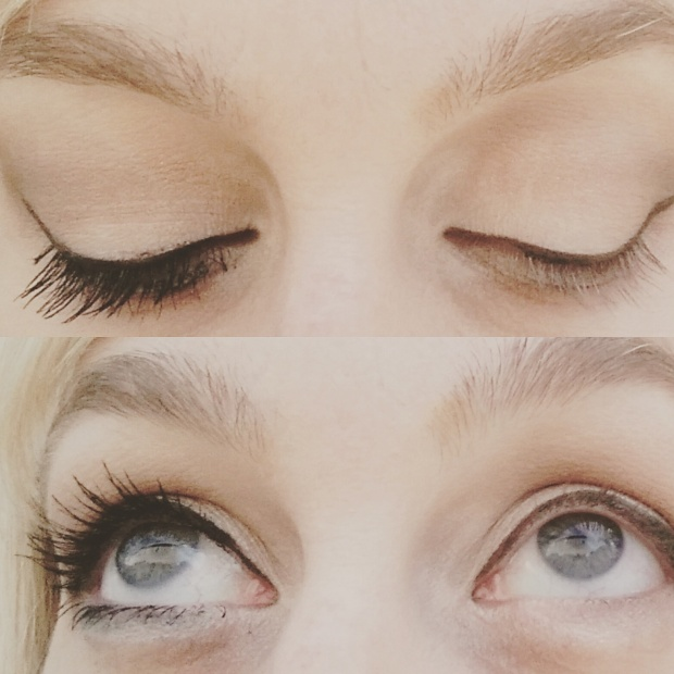 Big and Multiplied Mascara on the lashes!