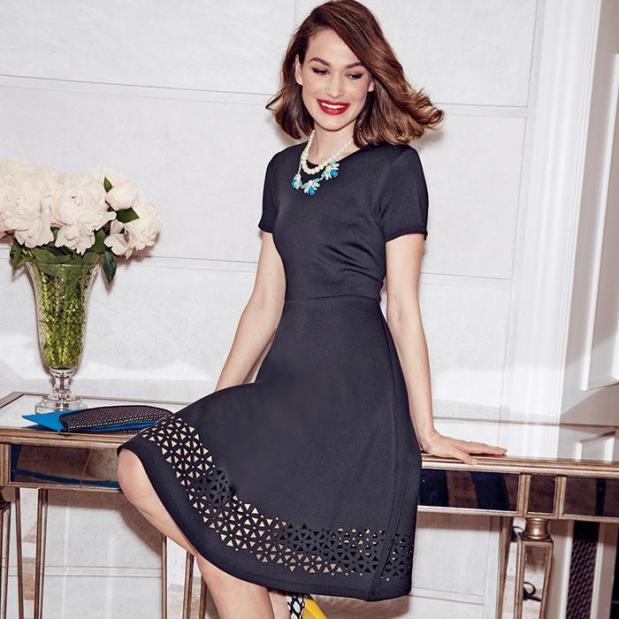 Avon Laser Cut Little Black Dress