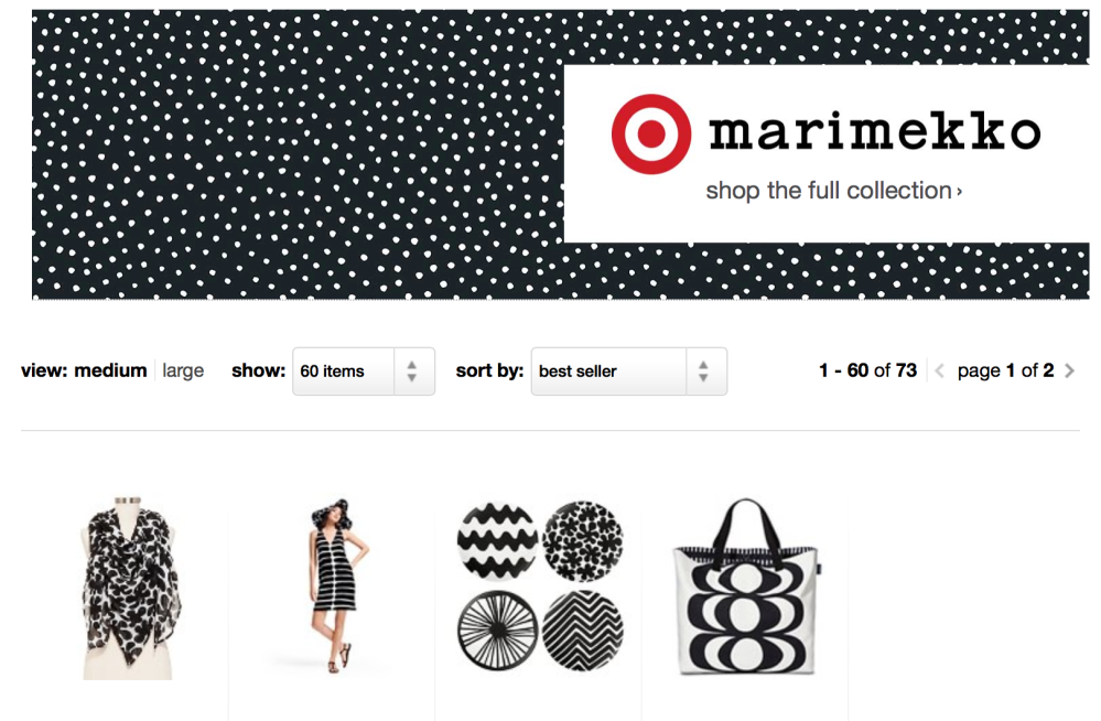 B&W from Marimekko For Target