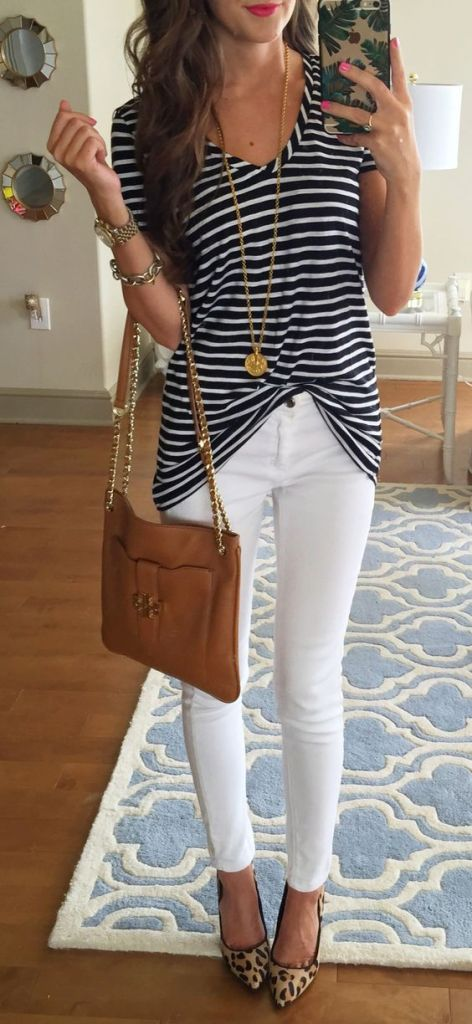 Navy Stripes Via Pinterst