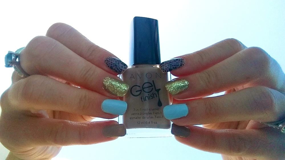 Mani Monday:  Nude Blue and Leopard Top Pinned Recreate