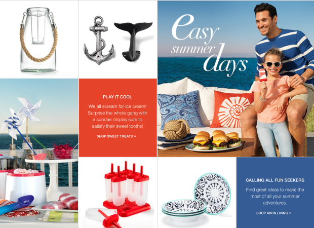 Nautical Accents from Avon Living