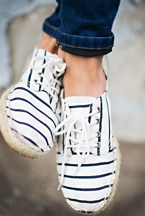 Nautical Lace Up Espadrille