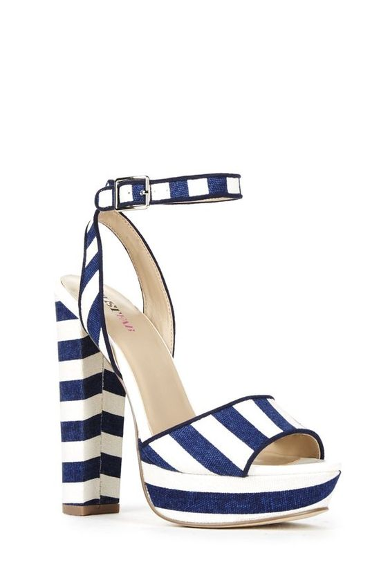 Just Fab Terra Nautical Heel