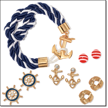 Avon Nautical Rope Bracelet and Earring Set