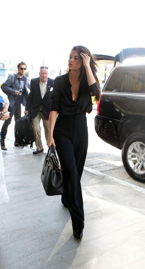 S. Gomez Looking Sleek In Black Pants