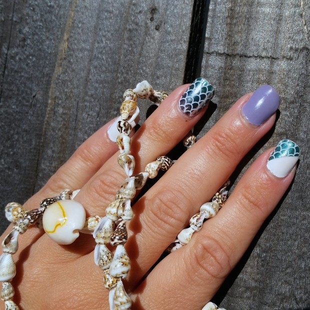 Mermaid Mani for Nautical Looks
