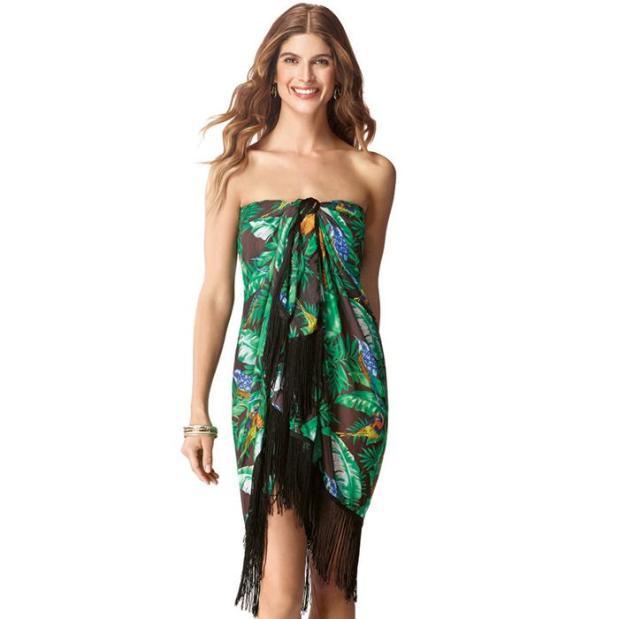 Avon Multi-Way Printed Sarong Tied As A Dress