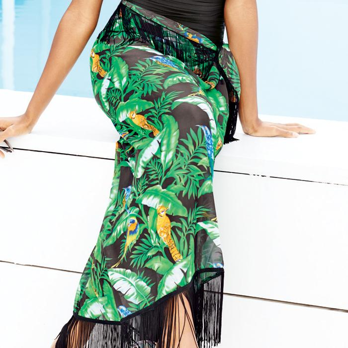 Avon Multi-Way Printed Sarong As A Maxi Skirt