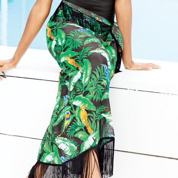 Avon Multi-Way Printed Sarong As A Maxi Skirt