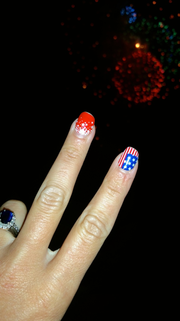 Week O'Nautical:  4th Of July Mani Pedi