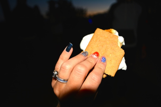 Perfect s'mores pairing... a Patriotic July mani!