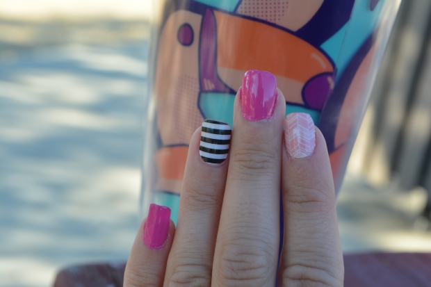 Mixed Mani With Jamberry and Avon