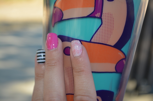 Jamberry Sorbet Nail Wrap on Pointer