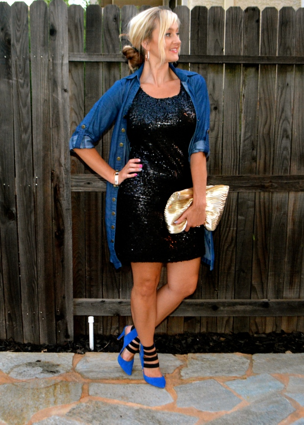 How To Wear A Sequined Dress Casually