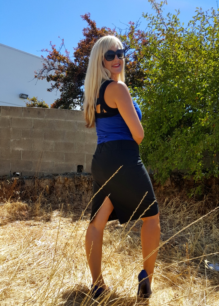 Black and Blue Wear To Work Outfit