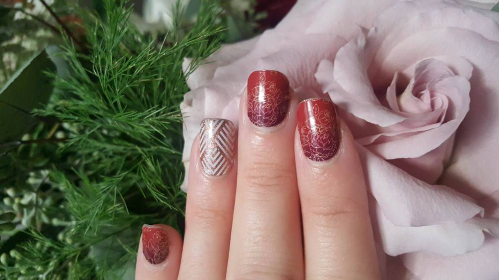 Jamberry Autumn Romance and Copper Glam