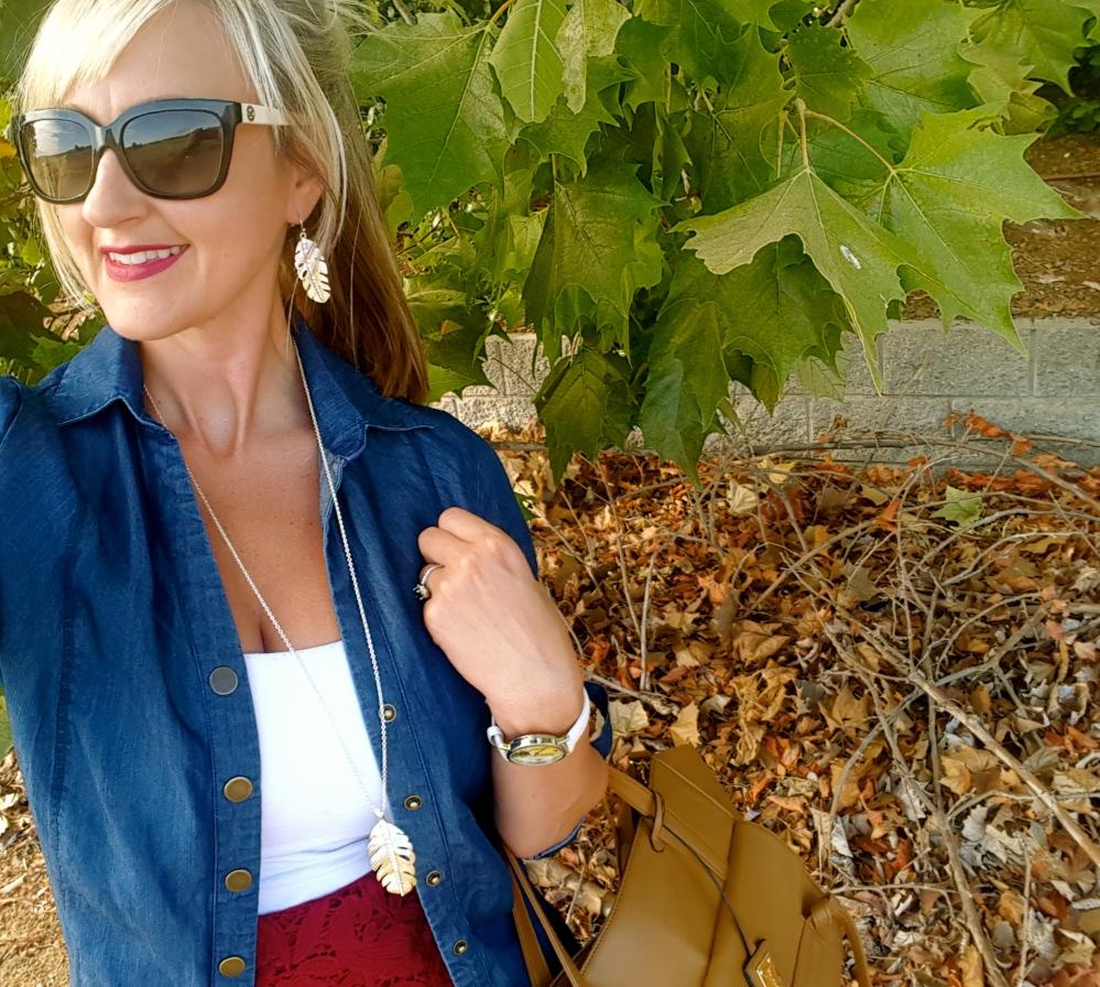 Avon Bravo Jewelry Collection and Avon Perfectly Matte Lipstick in Wild Cherry