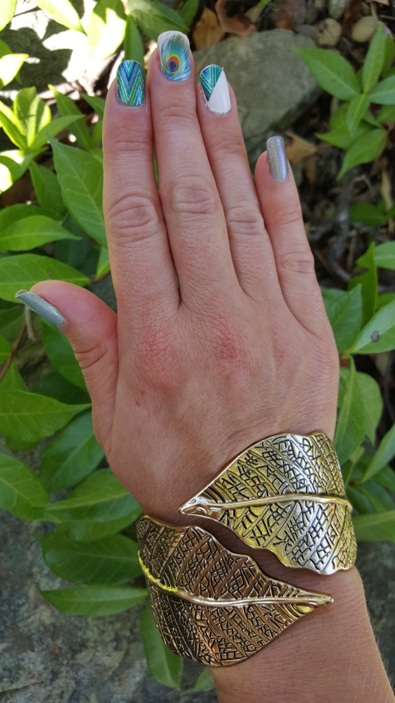 Featuring Jamberry Wraps Razzle Dazzle and Shake Your Tail Feather