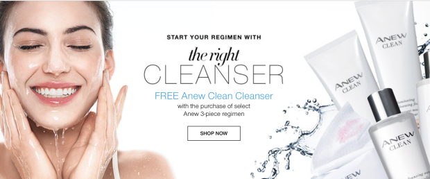 Free Cleanser With Select Anew Products!