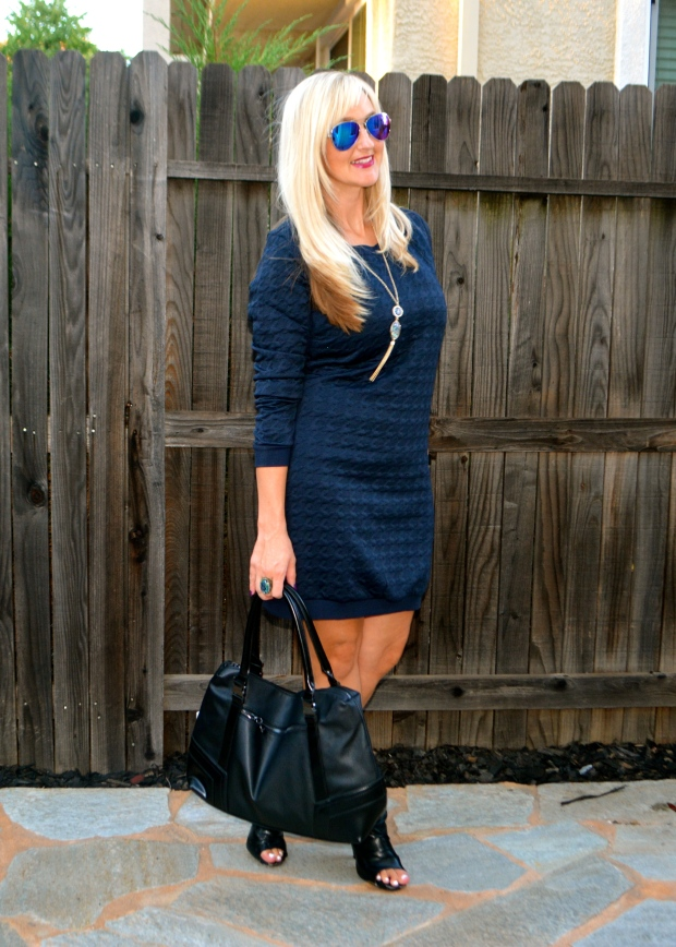 Fall Travel Outfit - mark. Sweat Equity Dress