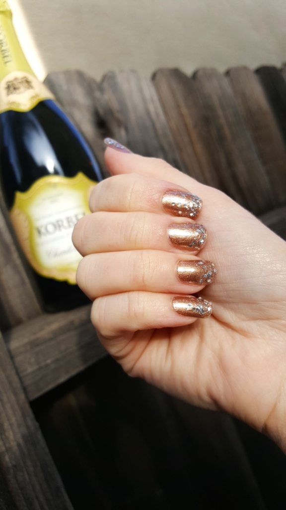 Ready To Toast The New Year With A Champaign Mani