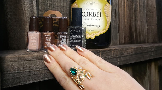 Nailed It: Bubbly Champaign Mani
