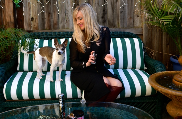 The Pups Love My Versatile Sheer Blouse