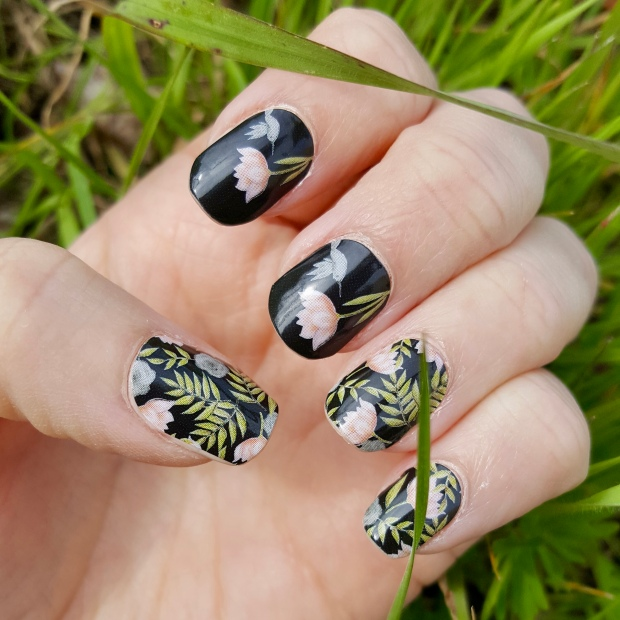 Mani Monday: Whimsical Dark Florals
