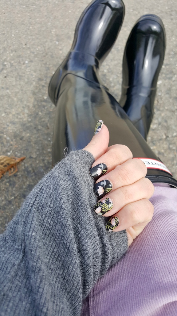 Spring Nails and Hunter Rain Boots