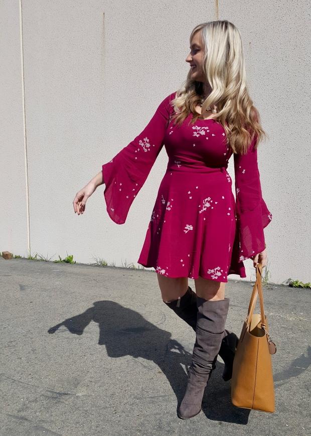 Bell Sleeve Trend on the mark. Garden Design Dress
