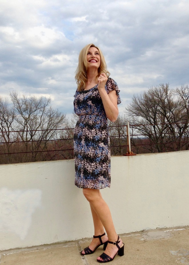 Linda's Look In The Avon Soft Flutter Sleeved Dress