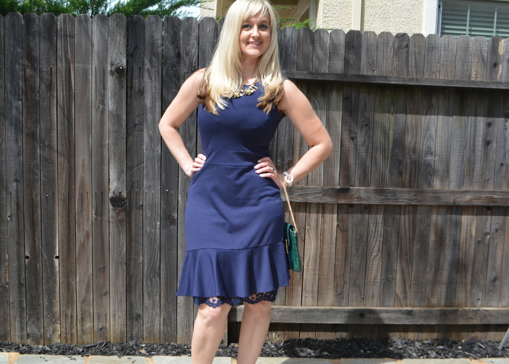 Fresh spring dress to go with a fresh spring face!