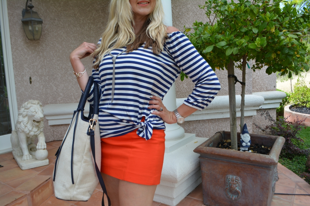Avon Striped Off The Shoulder Top