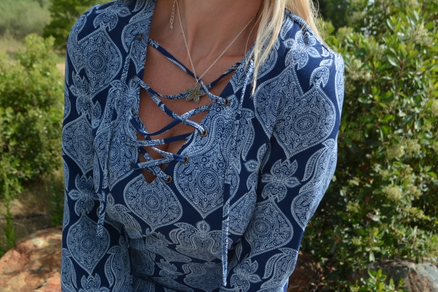 Lace Up Neckline Details