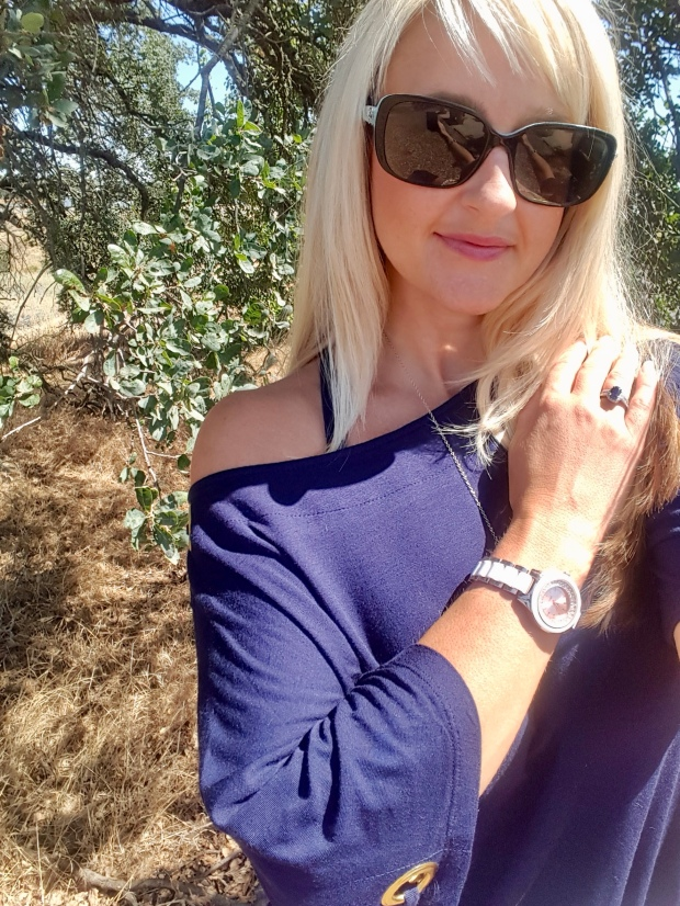 Worn Off The Shoulder With Nautical Accessories