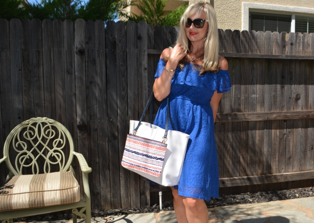 Week O'Nautical:  Red White and Blue Lace