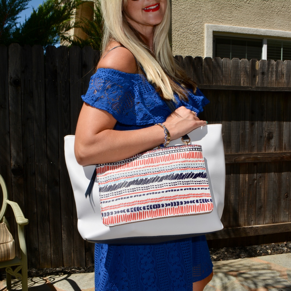 The Ultimate Summer Travel Bag:  Saffiano Two-Piece Tote