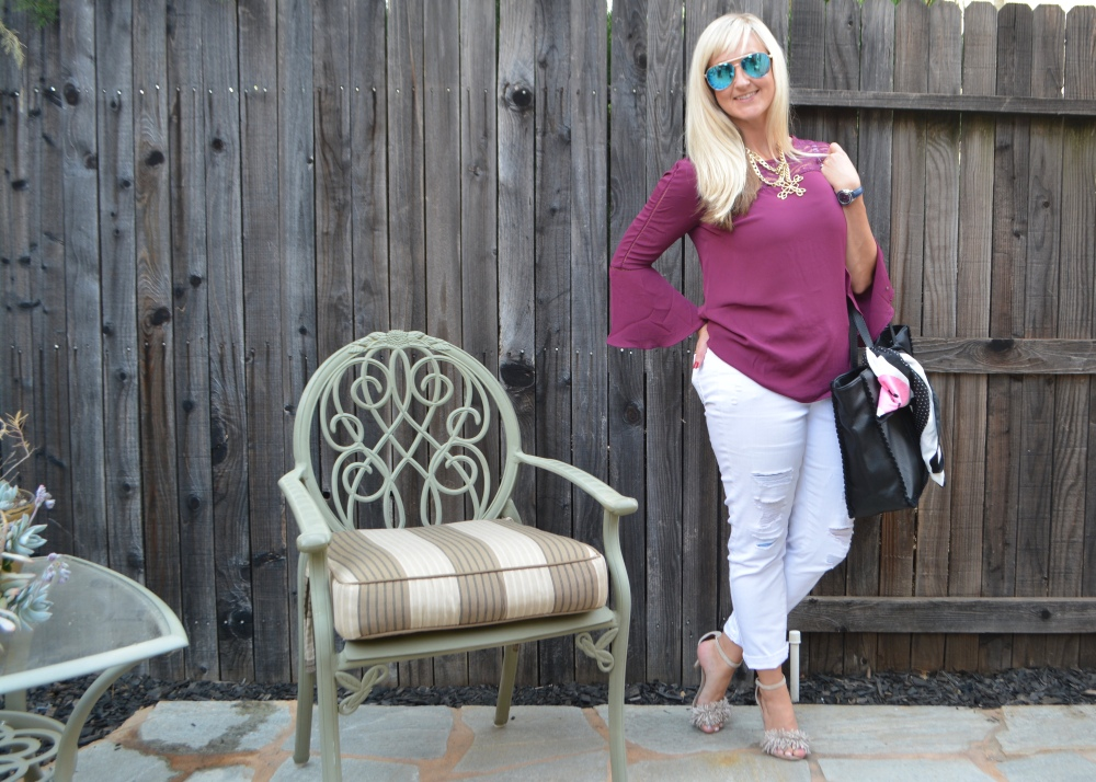 Avon Leather and Suede Whipstitch Tote