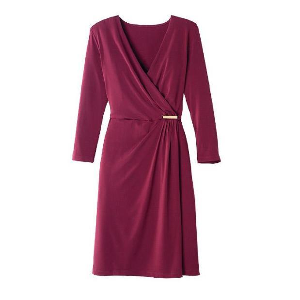 Avon Bordeaux Knit Dress