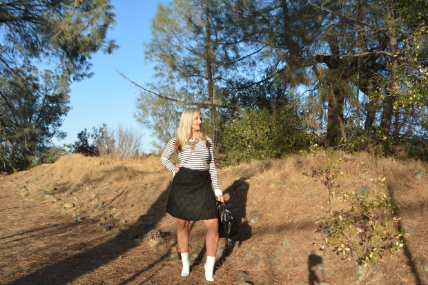 Sweater and Skirt Full Look For Fall