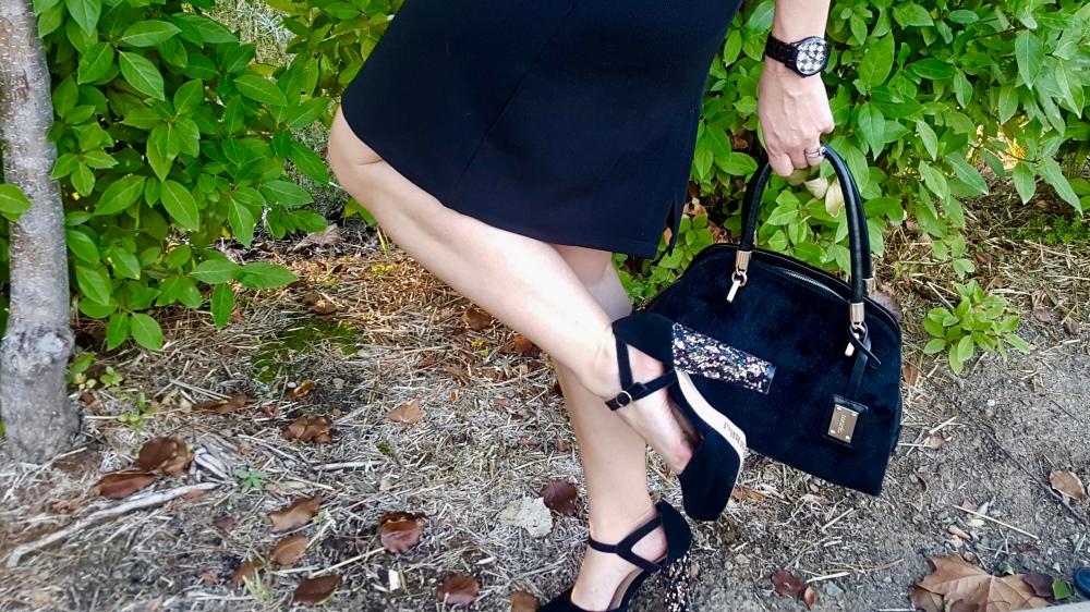 mark. By Avon High on Glitter Platform Heels