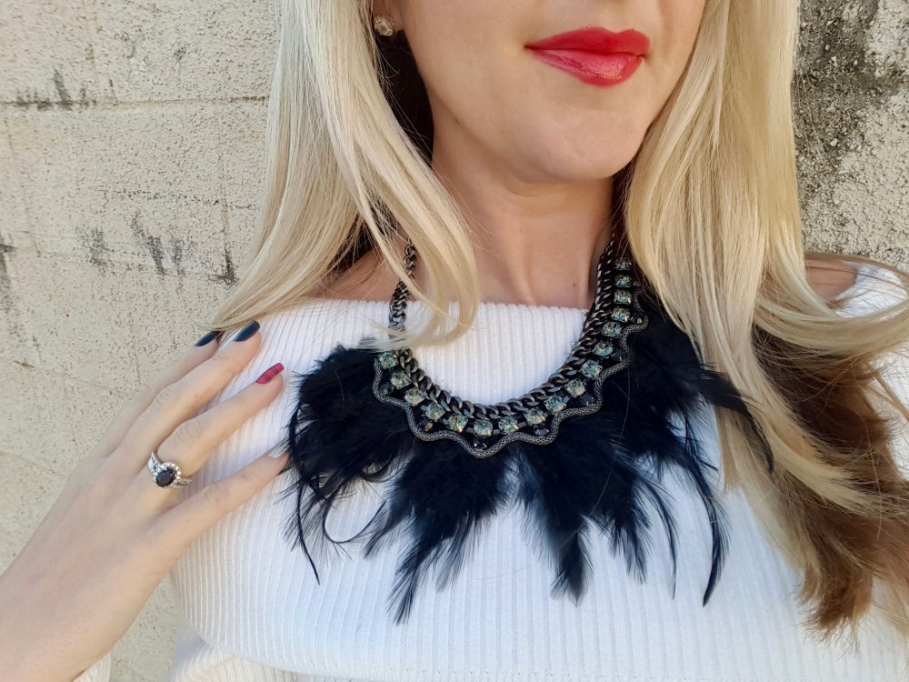 Buffalo Plaid, Feathers, and Red Lips