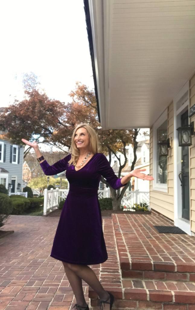 Avon Velvet Fit and Flare Dress