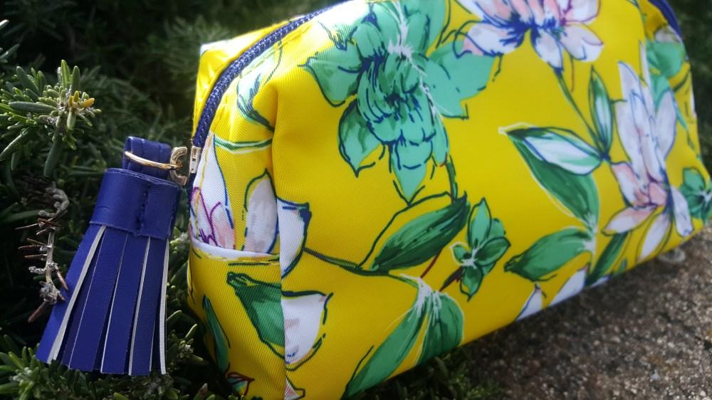 Savana Blooms Print Makeup Bag