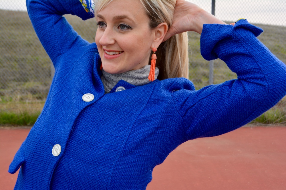 Wearing The Avon Southern Belle Coat and Earrings